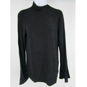 Badgley Mischka Ribbed Pullover Top Size L 0877
